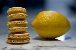 Lemon Macarons Trio