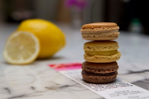 Coffee, Chocolate and Lemon Macarons