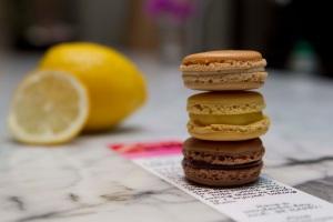 Coffee, Chocolate and Lemon Macarons