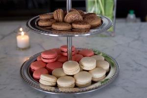 Chocolate, Raspberry and Vanilla Macarons
