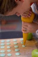 Piping Macarons